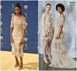 Letitia Wright  In Pamella Roland  @  2018 Emmy Awards