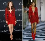 Lily Collins  In Zuhair Murad  Couture  @ Cartier Precious Garage Party  During NYFW