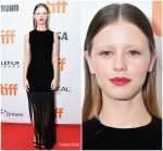 Mia Goth  In Saint Laurent @ 2018 Toronto International Film Festival