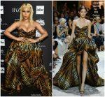 Nicki Minaj wore  In Alexandre Vauthier  @ 2018 Harper's Bazaar ICONS NYFW Event