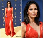 Padma Lakshmi  In J.Mendel  @ 2018 Emmy Awards