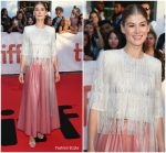 Rosamund Pike In Givenchy Haute Couture  @ 'A Private War' Toronto International Film Festival Premiere