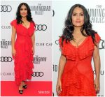 Salma Hayek  In Alexander McQueen  @ The Hummingbird Project Toronto International Film Festival Premiere