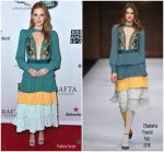 Sarah Drew  In  Elisabetta Franchi  @ 2018 BAFTA Los Angeles + BBC America TV Tea Party