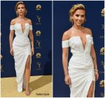Scarlett Johansson In Balmain  @ 2018 Emmy Awards