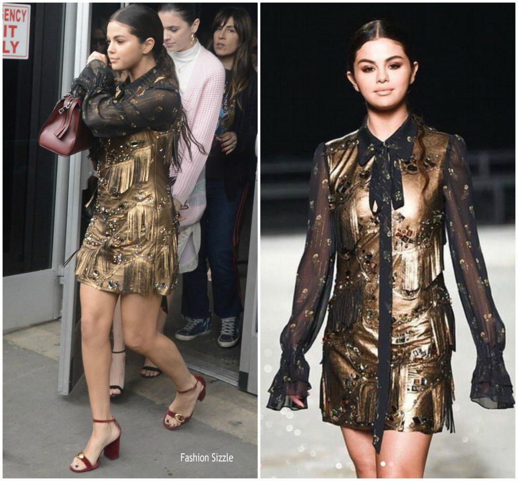 Selena Gomez In Coach 1941 Coach 1941 S S 2019 Nyfw Fashion Show Fashionsizzle