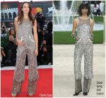 "Stacy Martin  In Chanel  Couture @  ""Vox Lux""  Venice Film Festival Premiere"