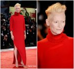 Tilda Swinton In Haider Ackermann @  'A Star Is Born' Venice Film Festival Premiere