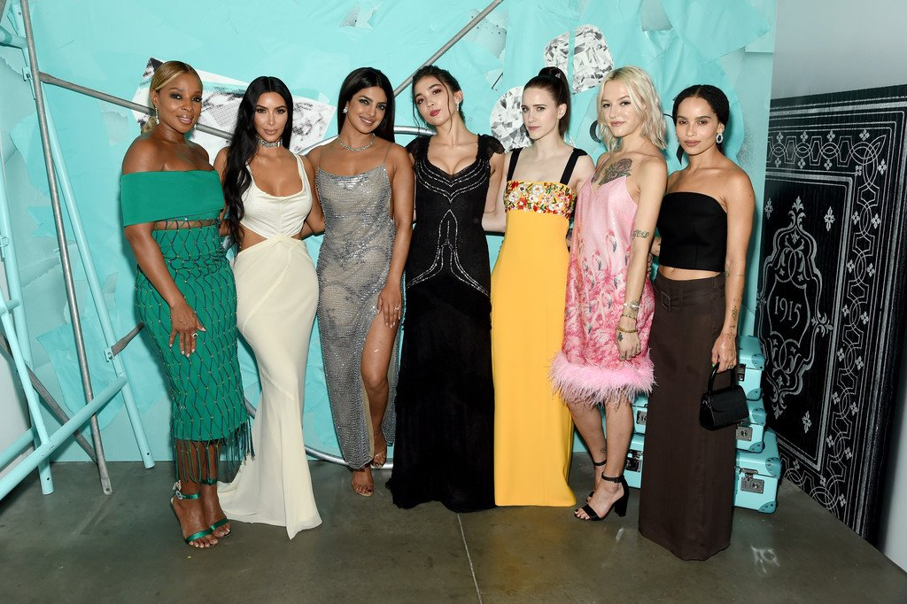 mary-j-blige-kim-kardashian-west-priyanka-chopra-rowan-blanchard-rachel-brosnahan-bria-vinaite-zoe-kravitz-2018-tiffany-blue-book-collection
