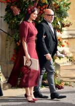 Demi Moore in Stella McCartney  @  Wedding of Princess Eugenie of York to Jack Brooksbank