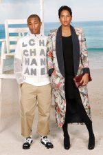 Pharrell Williams and Helen Lasichanh @  Chanel Spring/ Summer 2019
