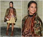 Alicia Vikander In  Louis Vuitton  @  Louis Vuitton   Spring/ Summer Fashion Show In Paris