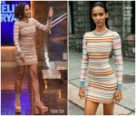 "Amandla Stenberg  In Herve Leger  @  ""LIVE with Kelly and Ryan""."