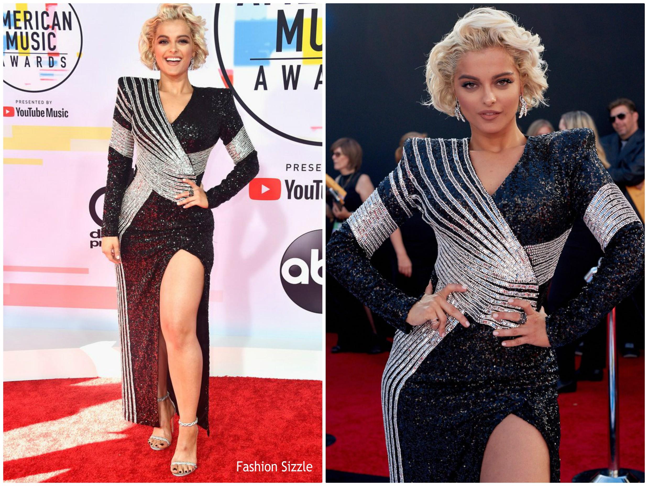 57bc273e Bebe Rexha In Balmain @ 2018 American Music Awards - Fashionsizzle