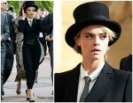 Cara Delevingne In Burberry  @ Princess Eugenie Of York's Wedding