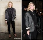 Cate Blanchett  In Louis Vuitton @ Louis Vuitton Spring 2019 Fashion Show In Paris
