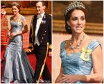 Catherine, Duchess Of Cambridge In Alexander McQueen @ State Visit Of The King & Queen Netherlands In London
