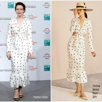 claire-foy-in-carolina-herrera-the-girl-in-the-spiders-web-rome-film-festival-photocall