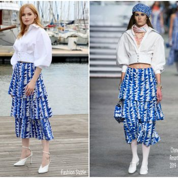 ellie-bamber-in-chanel-les-miserables-MIPCOM-2018-photocall