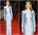 Emma Stone In Louis Vuitton  @ 'The Favourite' London Film Festival Premiere