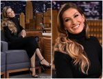 Gisele Bündchen In Haider Ackermann  @ The Tonight Show Starring Jimmy Fallon