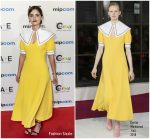 Jenna Coleman In Emilia Wickstead  @ MIPCOM 2018 Opening Ceremony