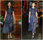 Keira Knightley In Peter Pilotto  @ The Ellen DeGeneres Show
