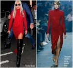 Lady Gaga In Alexandre Vauthier Haute Couture  @ Faces and Names Bar