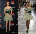 Lily Collins in Giambattista Valli Haute Couture @ 2018 GO Campaign Gala