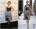 Lily James In Burberry  @ 2018 Harper's Bazaar Women of the Year Awards