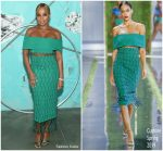 Mary J. Blige In Cushnie   @  Tiffany & Co. Celebrates 2018 Tiffany Blue Book Collection