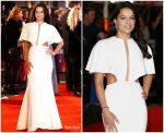 Michelle Rodriguez In Julianna Bass  @ 'Widows' London Film Festival Premiere