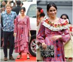 Meghan, Duchess of Sussex In Figue  @ Fiji Visit Day 2