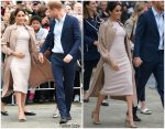 Meghan Markle , Duchess Of Sussex In  Brandon Maxwell & Burberry  @ Royal Tour In New Zealand