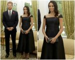 Meghan Markle Duchess Of Sussex In Gabriela Hearst  @ Royal Tour In New Zealand