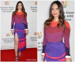 Olivia Munn  In Prabal Gurung @  Elizabeth Glaser Pediatric AIDS Foundation In LA