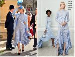 Poppy Delevingne In Oscar de la Renta  @ Princess Eugenie Of York's Wedding