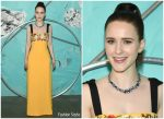 Rachel Brosnahan  In Carolina Herrera  @ Tiffany & Co. 2018 Celebration of the Tiffany Blue Book Collection