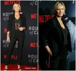 Robin Wright In Saint Laurent & Sézane  @'House of Cards' Season 6 World Premiere
