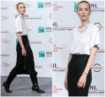 Sylvia Hoeks in Christopher Kane @ 'The Girl in the Spider's Web' Rome Film Festival Photocall
