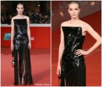 Sylvia Hoeks in Saint Laurent @ 'The Girl in the Spider's Web' Rome Film Festival Premiere