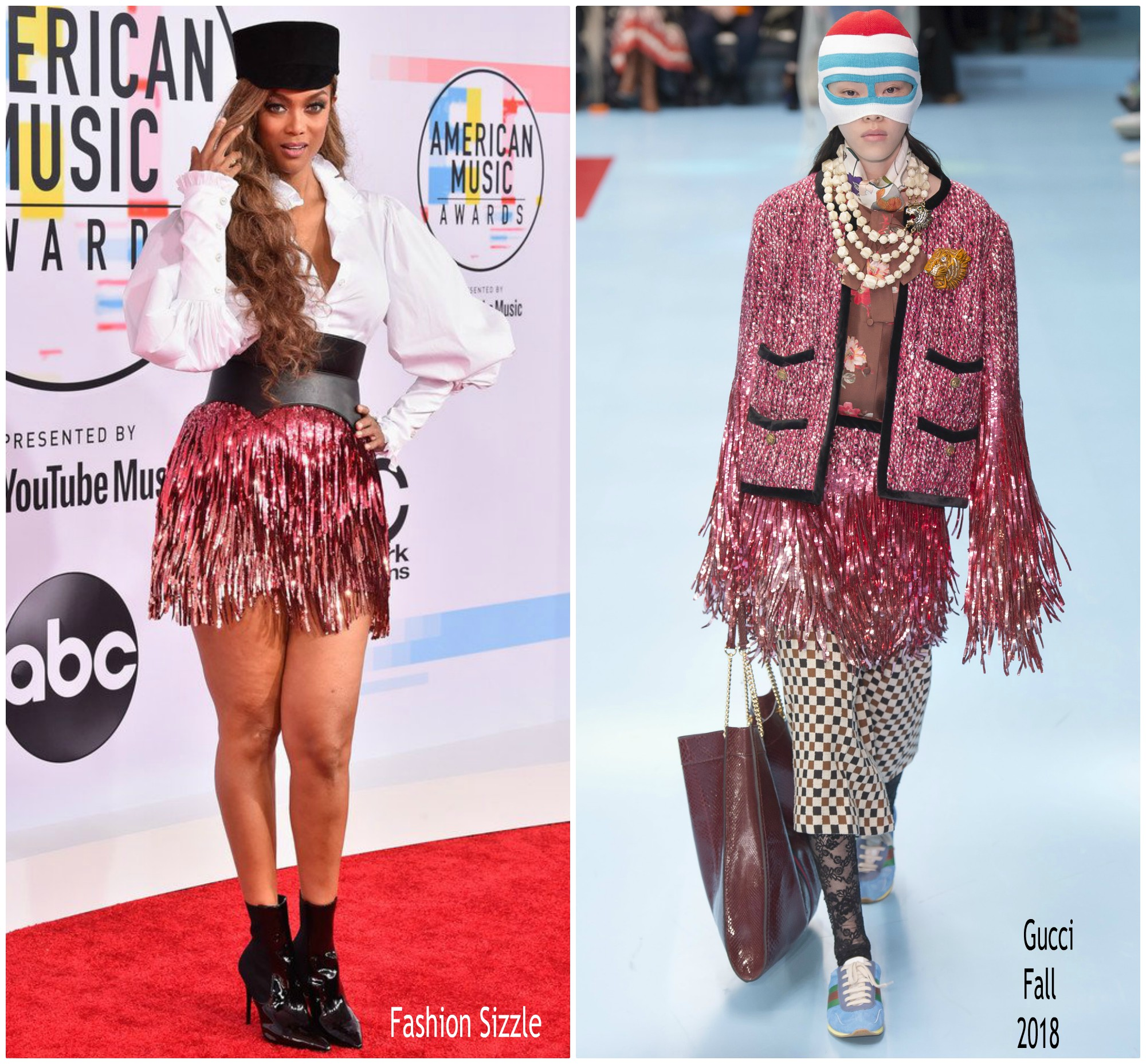 Tyra Banks Awards: Tyra Banks In Gucci @ 2018 American Music Awards