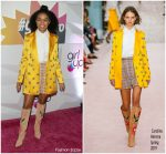 Yara Shahidi In Carolina Herrera  @  #girlhero Award Luncheon