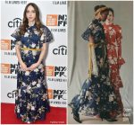 Zoe Kazan in Erdem @ 'Wildlife' New York Film Festival Premiere