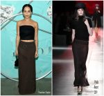 Zoe Kravitz  In  Prada @  Tiffany & Co. Celebrates 2018 Tiffany Blue Book Collection