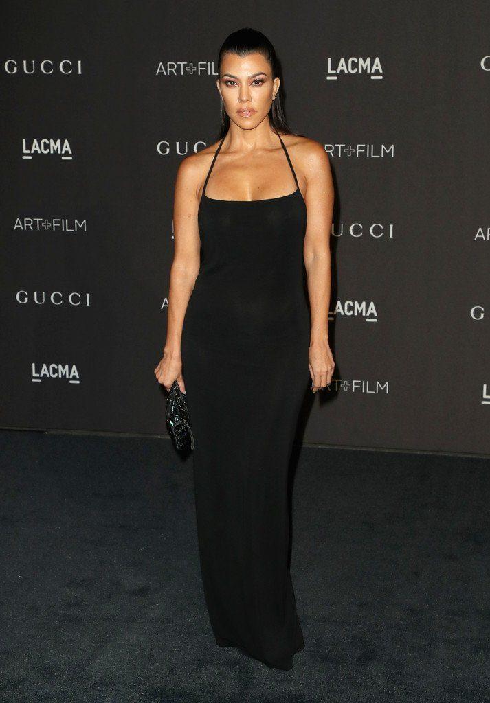 57d635ced40dc Kim Kardashian West and Kourtney Kardashian (both in vintage Gucci   2018  LACMA Art + Film Gala.