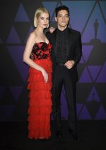 Lucy Boynton In Rodarte  &  Rami Malek  In  Givenchy @  2018 Governors Awards