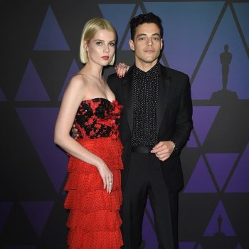 lucy-boynton-in-rodarte-rami-malek-in-givenchy-2018-governors-awards