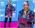 Bebe Rexha In   Moschino  @ 2018  MTV EMAs