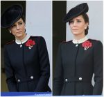 Catherine, Duchess of Cambridge In Alexander McQueen  @   Remembrance Sunday